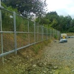 Root-protection fencing on site